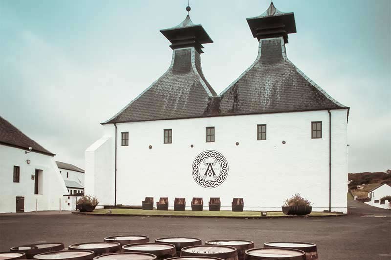 Casks at Ardbeg Distillery Islay