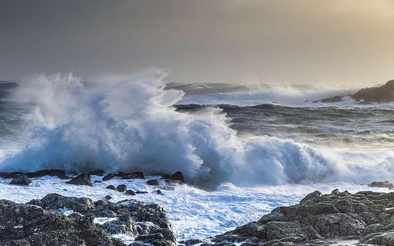 Stormy Seas off the Islay Coast